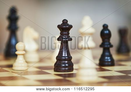 chess figures at chessboard