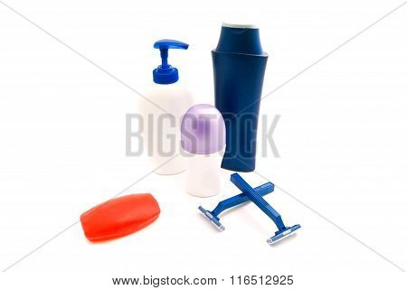 Gel, Shampoo, Razors And Deodorant