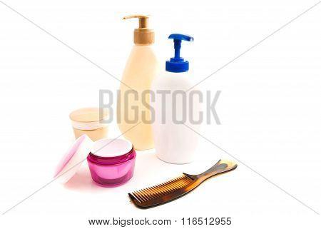 Gel, Cream And Hairbrush