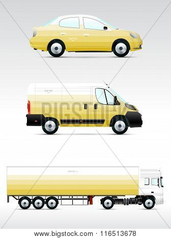 Template Vehicle For Advertising, Branding Or Corporate Identity.