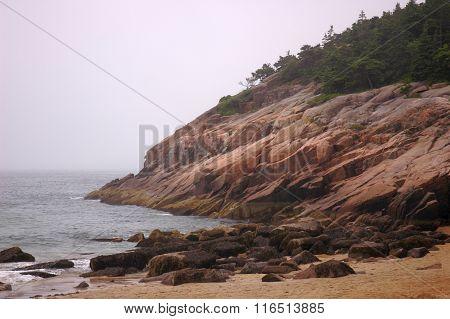 Beach by Bar Harbor Maine
