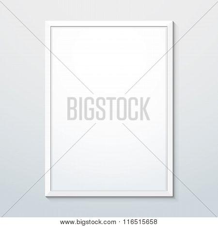 Vertical White Frame Mockup.