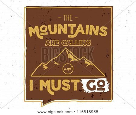 Outdoor inspiration background. Motivation mountain brochure quote template. Winter snowboard sport