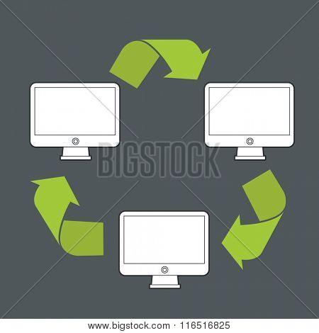 Abstract modern computer data transfer scheme