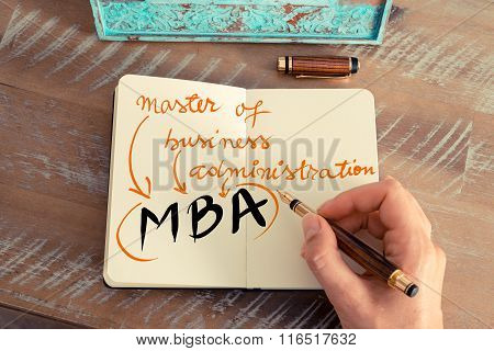 Acronym Mba Master Of Business Administration