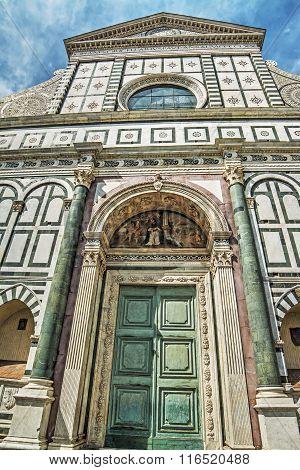 Santa Maria Novella Facade In Florence