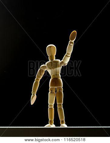 Human wood manikin