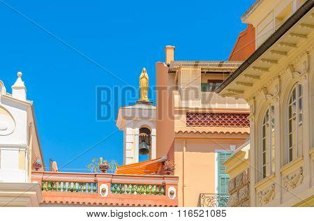 Fragment of Monaco Village, Monaco, France.