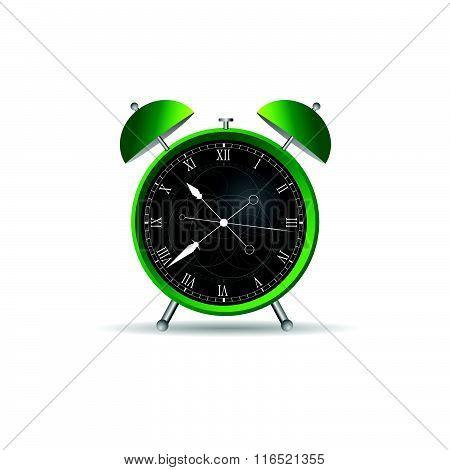 Clock Ancient Green Illustration