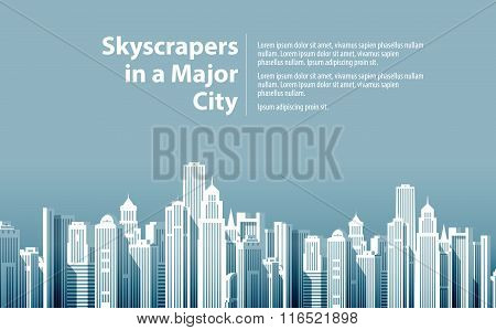 modern big city. vector illustration
