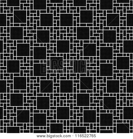 Black And White Square Abstract Geometric Design Tile Pattern Repeat Background