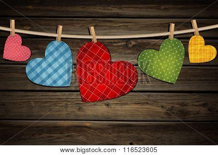 Vintage Paper Hearts
