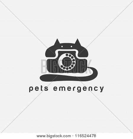 Phone In A Form Of Cat Concept