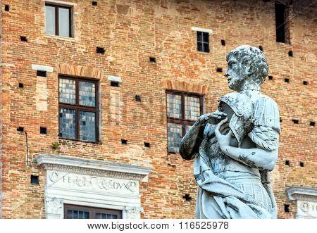 San Crescentino Statue In Urbino, Italy