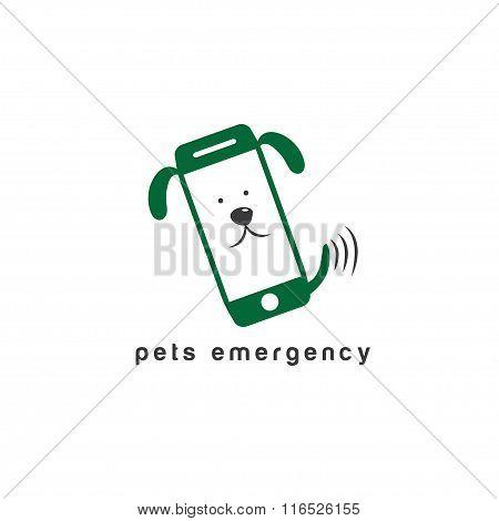 Pets Emergency Concept Flat Design