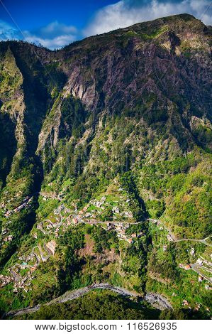 Winding Roads And Small Houses In The Nun's Valley