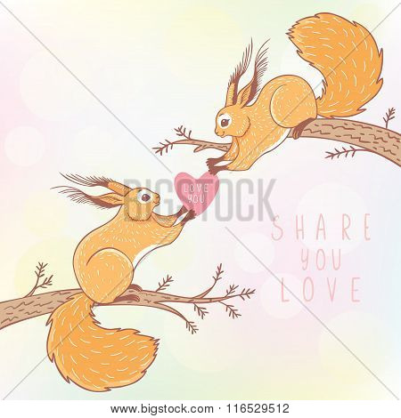 two squirrels color