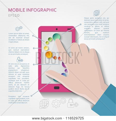 Mobile infographic concept