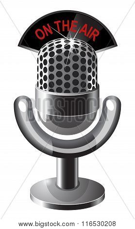 Retro steel microphone