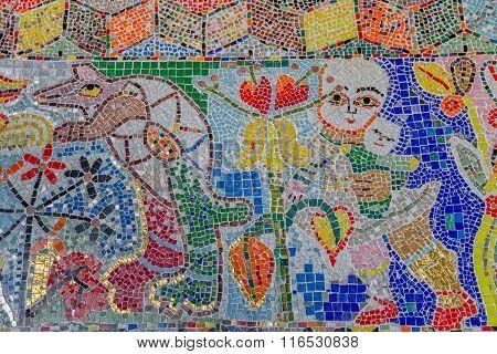 Mirka Mora mosaic