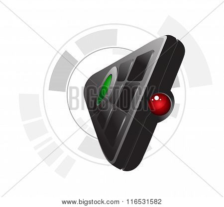 Remote control vector illustration