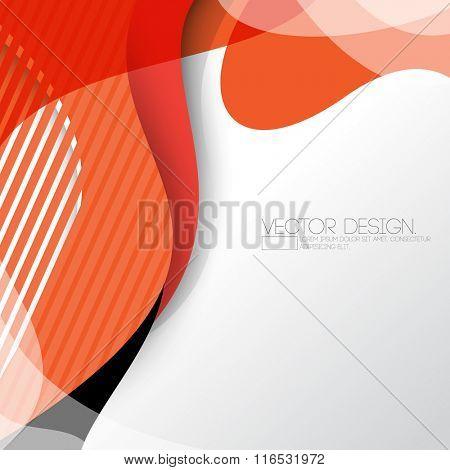 wave elements flat layout concept corporate background design