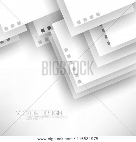 overlapping paper elements flat layout concept background design