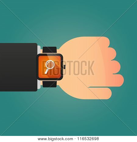 Isolated Smart Watch Icon With A Magnifier