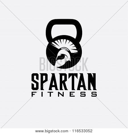Spartan Fitness Vector Design Template