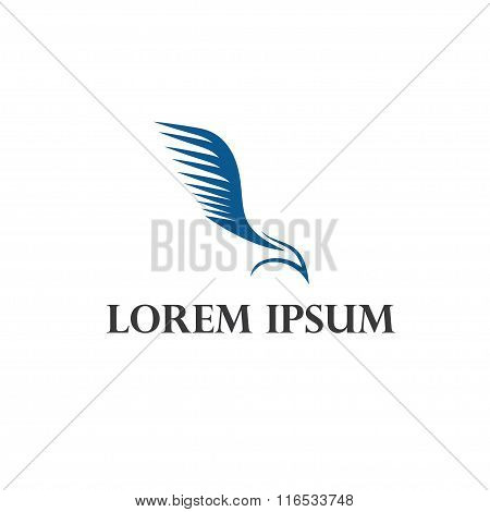 Bird Falcon Abstract Vector Design Template