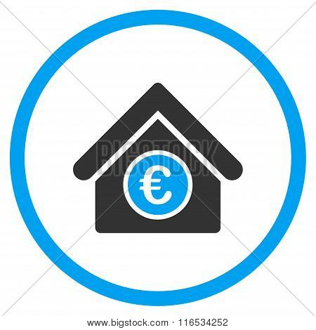 Euro Financial Center Rounded Flat Icon