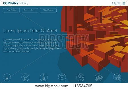 Space construction abstract concept for web design. Concept for web site and promotion.