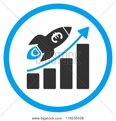 Euro Success Business Start Rounded Icon