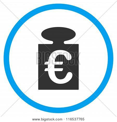 Euro Weight Rounded Icon