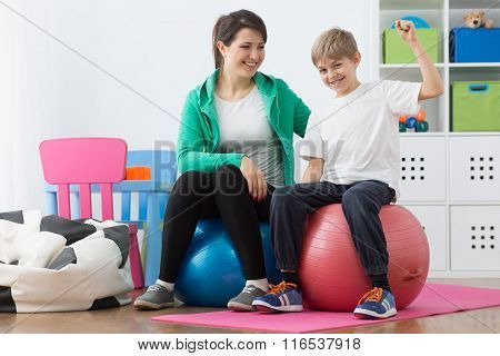 It's Fun To Exercise On Ball