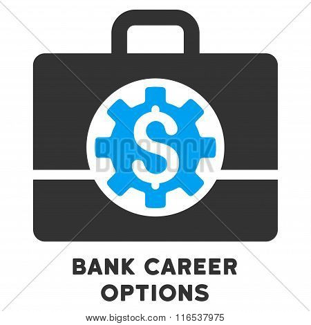 Bank Career Options Vector Icon With Caption