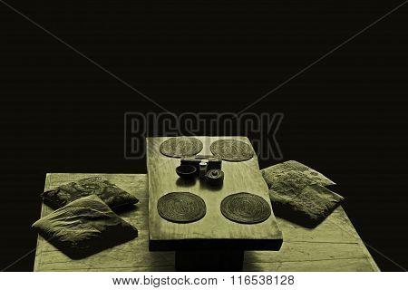 Oriental restaurant table