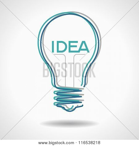 Creative idea in bulb shape. Inspiration concept. File is EPS version. This illustration contains a transparency