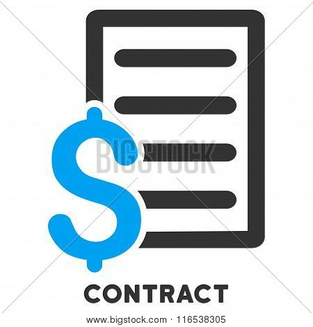 Contract Vector Icon With Caption