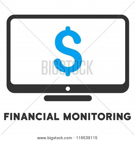 Financial Monitoring Vector Icon With Caption