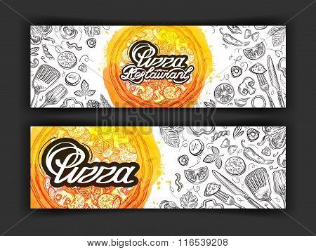 pizza vector logo design template. eatery, diner or restaurant icons