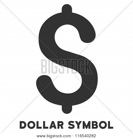 Dollar Symbol Vector Icon With Caption
