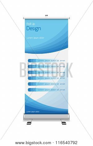 Roll-up With The Template Design