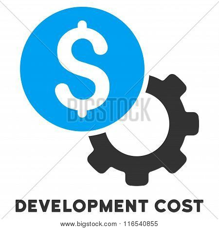 Development Cost Glyph Icon With Caption