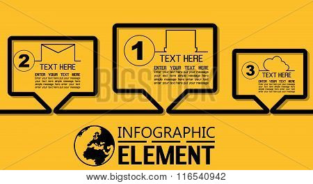 Infographic Simple Template With Steps Parts Options Comics
