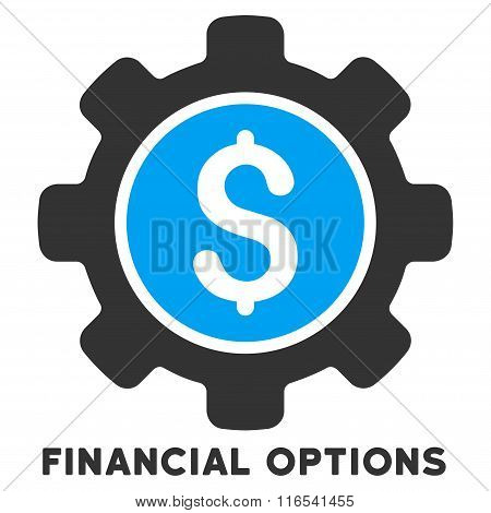Financial Options Glyph Icon With Caption