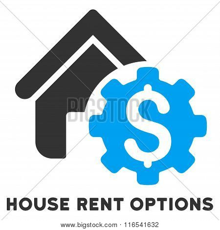 House Rent Options Glyph Icon With Caption