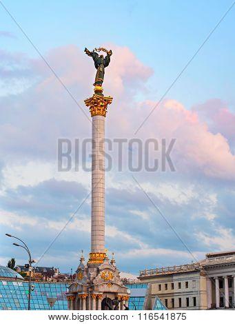 Berehynia Monument. Kiev, Ukraine