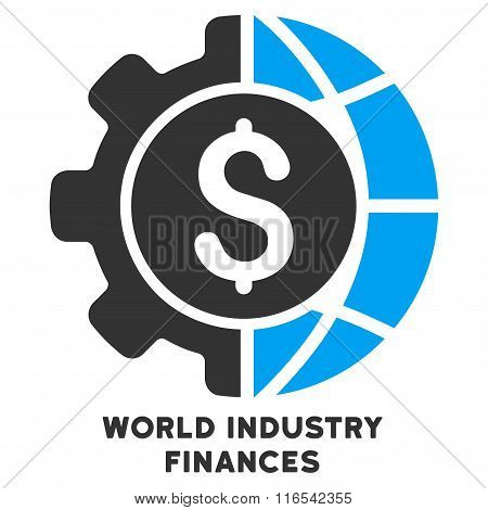 World Industry Finances Glyph Icon With Caption