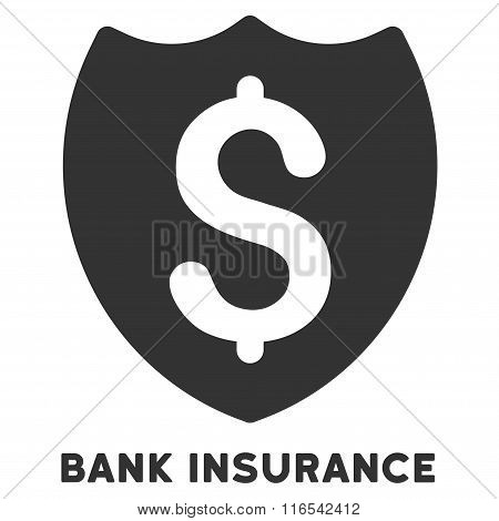Bank Insurance Glyph Icon With Caption